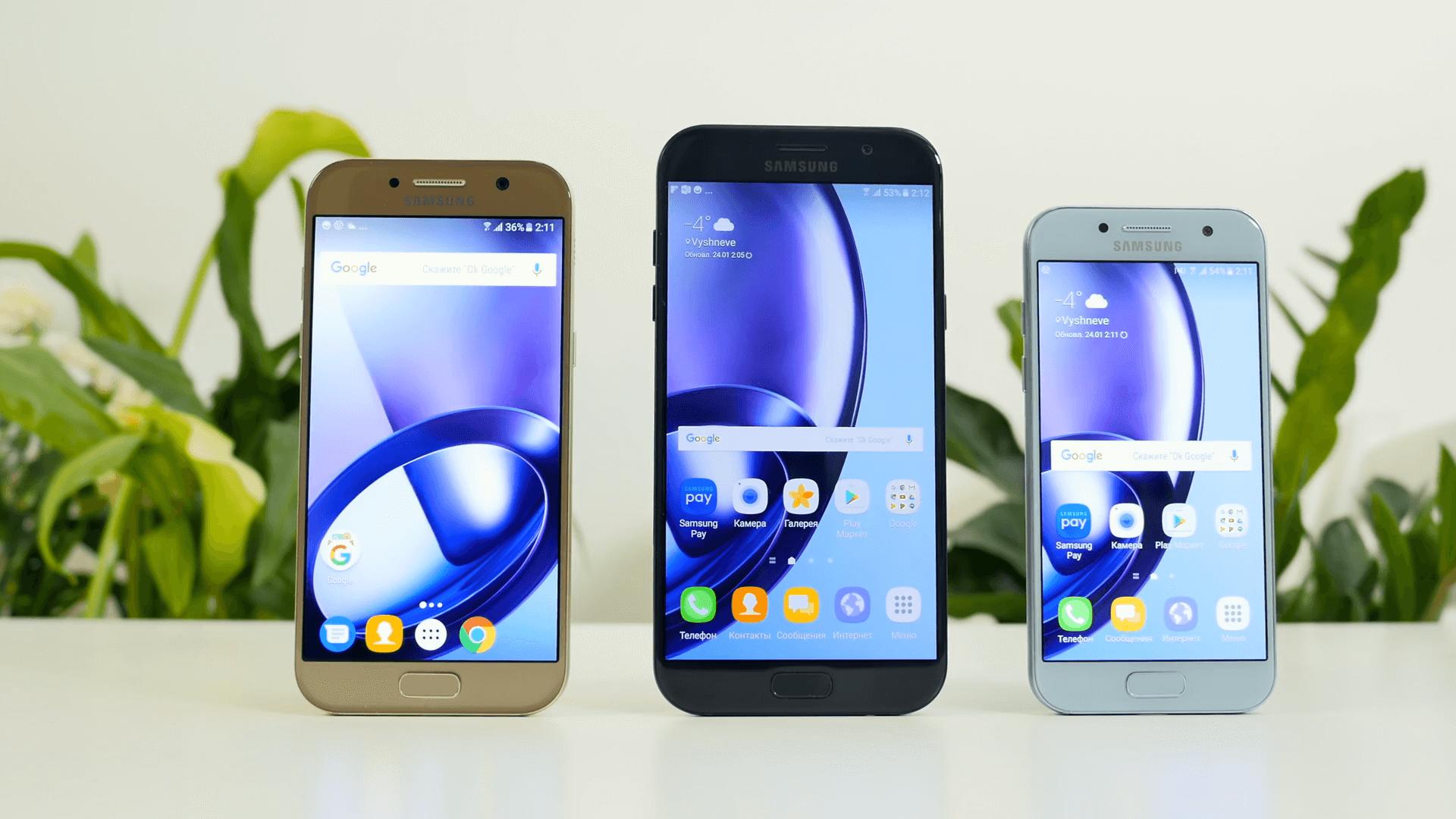 Samsung galaxy a7 2017 и s7 сравнение
