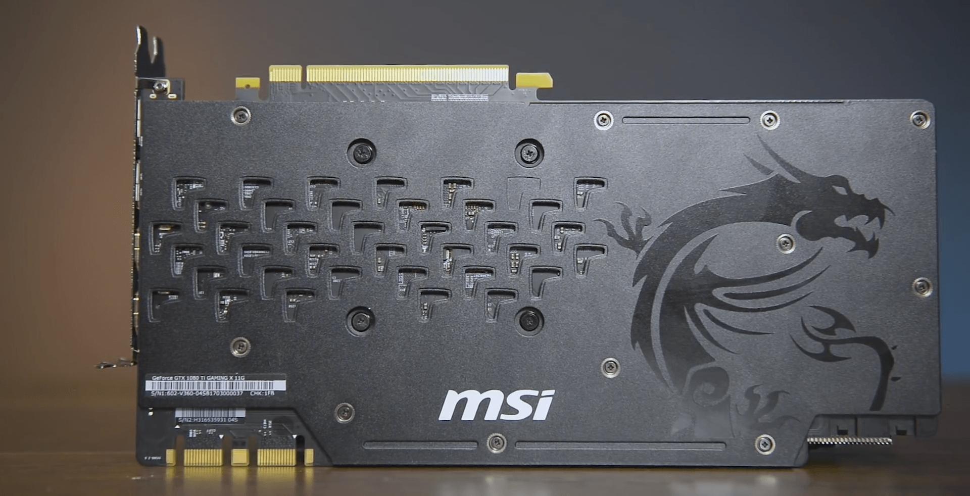 Особенности видеокарты msi gtx 1080 ti gaming x