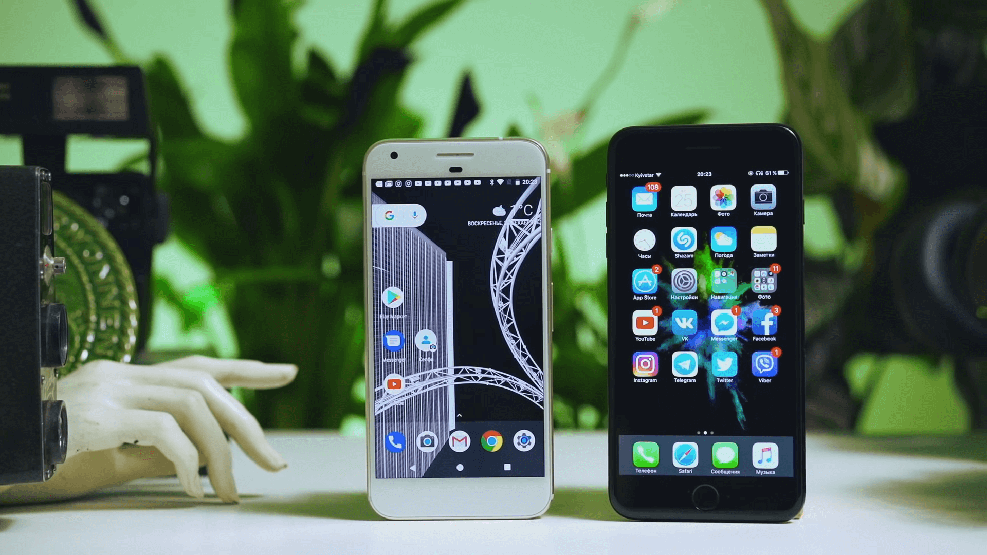 Google pixel и iphone 7 plus обзор камеры